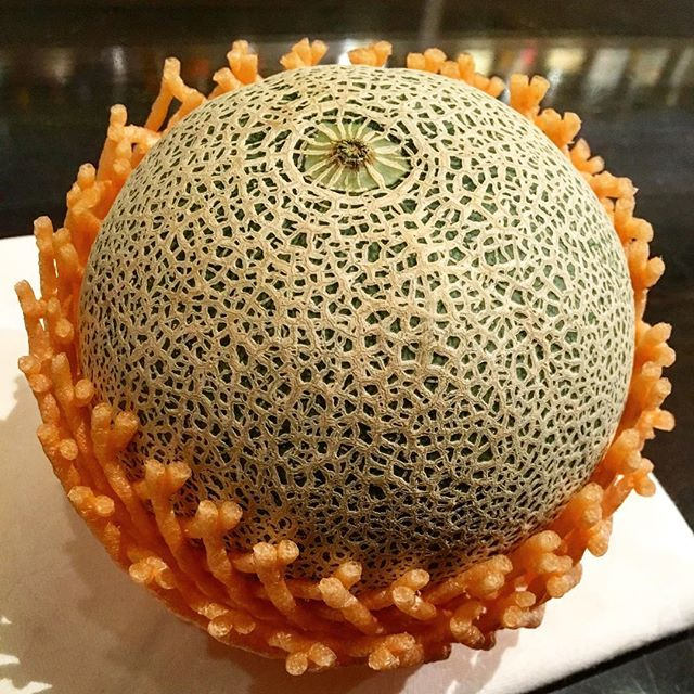 【regular fruits】Melon今までは作るのに退屈な#フルーツ てイメージが強くてほとんど使わなかったのですが、それは自分の未熟さ故だったようで。まだまだ足りてないのを実感した次第。なかなか面白みあるものが作れたので今年はregular in!#カクテル #フレッシュフルーツカクテル #cocktail #freshfruitscocktail #freshfruit  #bar #authenticbar #gyoutoku #gyotoku #行徳