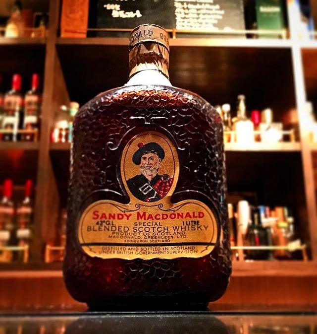 【new arrival blended malt】Sandy Macdonald (80's)#bar #authenticbar #bartool #gyoutoku #gyotoku #sandymacdonald  #blendedmalt #blendedscotch  #blended #scotch #malt #whisky #oldbottle #サンディマクドナルド #ウイスキー #ブレンデッド #ブレンデッドウイスキー #バーツール #行徳 #行徳bar