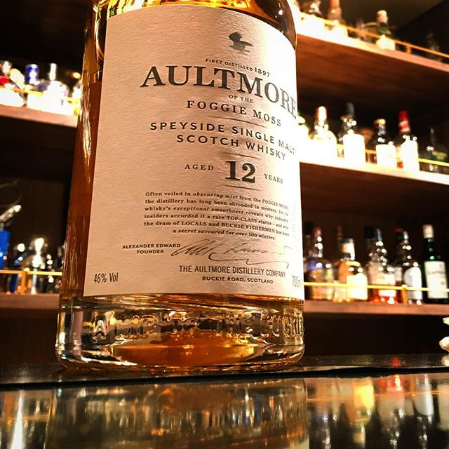 【new arrival single malt】Aultmore 12y 46%#bar #authenticbar #bartool #gyoutoku #gyotoku #aultmore #scotch #singlemalt #singlemaltwhisky #whisky #オルトモア #ウイスキー #シングルモルト#シングルモルトウイスキー #バーツール #行徳 #行徳bar