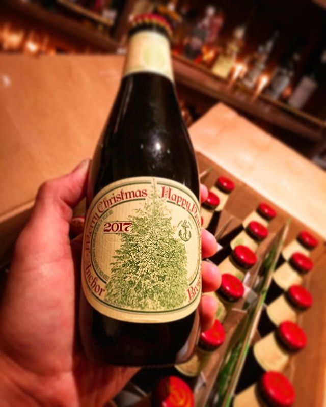 Now arrived !anchor brewing Christmas ale 2017 !#bartool #bar #authenticbar  #beer #anchorbrewing #christmasale #ビール #アンカースチーム #アンカースチームビール  #クリスマスエール #バーツール #行徳 #行徳BAR #浦安 #船橋