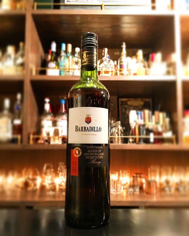 【new arrival sherry】Barbadillo / amontillado medium dry#bartool #bar #authenticbar #sherry #amontillado #amontilladosherry #barbadillo #シェリー #シェリー酒 #アモンティリャード  #バルバディージョ #バーツール #行徳 #行徳BAR #浦安 #船橋