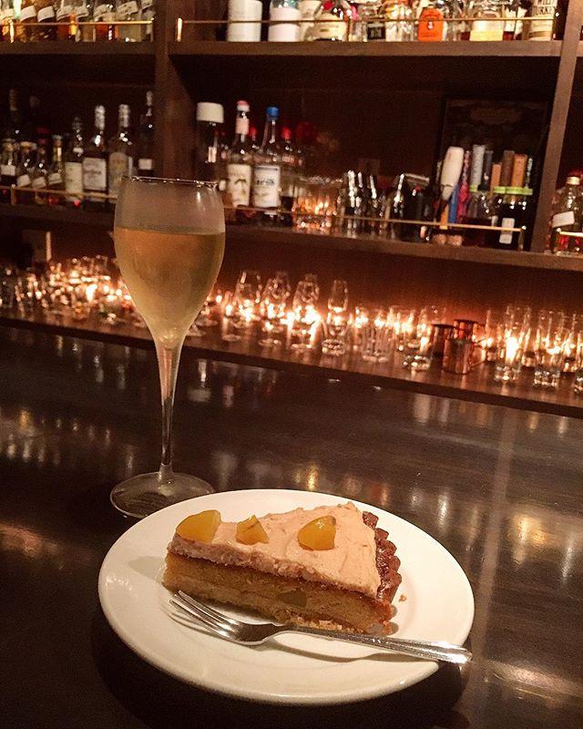 Tasting.#bar #authenticbar #cremedamande #crèmedamande #tarte #tart #homemade #マロンタルト #栗のタルト #栗 #栗スイーツ #自家製タルト #自家製スイーツ #行徳 #行徳bar #船橋 #浦安