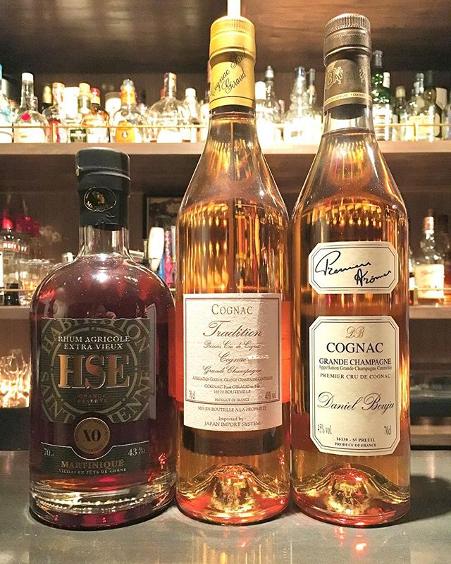 【new arrival bottles 2】L to RHSE Saint Etienne XOPaul Giraud traditionDaniel Bouju premier aroma#bar #authenticbar #bartool #saintetienne #rhum #martinique #rhummartinique #agricolerhum #agricolerum #paulgiraud #paulgiraudcognac #danielbouju #danielboujucognac #cognac #proprietaire #サンテティエンヌ #ラム #マルティニークラム #ポールジロー #ダニエルブージュ #コニャック #プロプリエテール #行徳 #行徳bar #船橋 #浦安